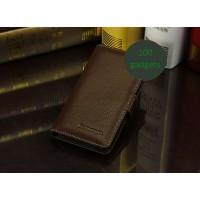 Кожаный чехол портмоне (нат. кожа) для Lenovo P780 Ideaphone Коричневый