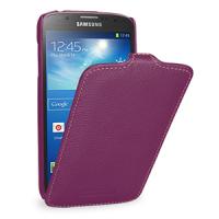 Кожаный чехол вертикальная книжка (нат. кожа) для Samsung Galaxy S4 Active Фиолетовый