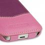 Эксклюзивный кожаный чехол ручной работы (2 вида кожа) для Samsung Galaxy S4 Mini фиолетовая