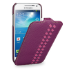 Эксклюзивный кожаный чехол (кожа ручного плетения) для Samsung Galaxy S4 Mini фиолетовая/розовая