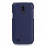 Кожаный чехол (нат. кожа) Back Cover для Samsung Galaxy S4 Mini синий