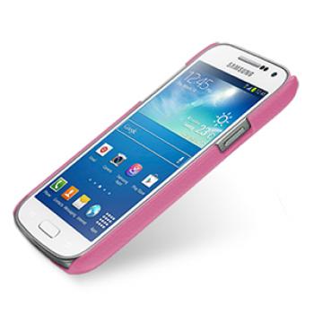 Кожаный чехол (нат. кожа) Back Cover для Samsung Galaxy S4 Mini розовый