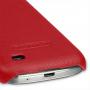 Кожаный чехол (нат. кожа) Back Cover для Samsung Galaxy S4 Mini красный