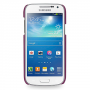Кожаный чехол (нат. кожа) Back Cover для Samsung Galaxy S4 Mini фиолетовый