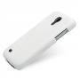 Кожаный чехол (нат. кожа) Back Cover для Samsung Galaxy S4 Mini белый