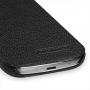 Кожаный чехол книжка горизонтальная (нат. кожа) для Samsung Galaxy S4 Mini черная