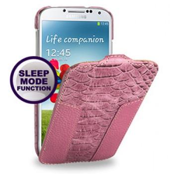 Кожаный эксклюзивный Nature чехол (3 сегмента) для Samsung Galaxy S4 розовый