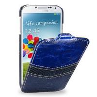 Кожаный эксклюзивный чехол ручной работы (3 вида кожи) для Samsung Galaxy S4