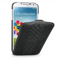 Кожаный эксклюзивный чехол (кожа ручного плетения) для Samsung Galaxy S4 черный