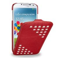 Кожаный эксклюзивный чехол (кожа ручного плетения) для Samsung Galaxy S4 красный