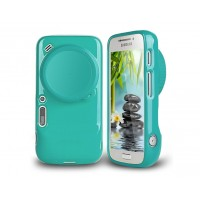 Силиконовый чехол Full Photo Cover для Samsung Galaxy S4 Zoom Зеленый