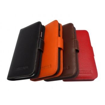 Кожаный чехол портмоне (нат. кожа) для Samsung Galaxy S4 Mini