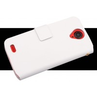 Чехол флип для Lenovo S820 Ideaphone Белый