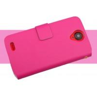 Чехол флип для Lenovo S820 Ideaphone Розовый