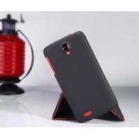 Пластиковый матовый премиум чехол для Lenovo S820 Ideaphone Черный