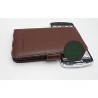 Кожаный чехол портмоне (нат. кожа) для Lenovo IdeaPhone S920 Коричневый