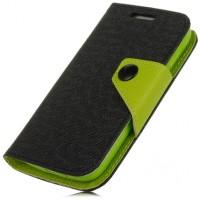 Чехол портмоне подставка с заклепкой для Samsung Galaxy Ace 3 Черный