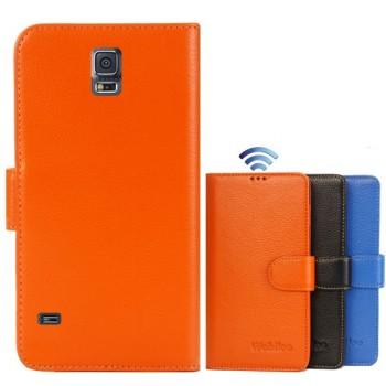 Кожаный чехол портмоне (нат. кожа) для Samsung Galaxy S5