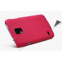 Пластиковый матовый премиум чехол для Samsung Galaxy S5 Красный
