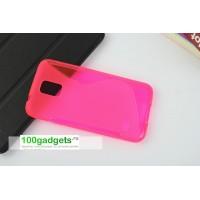 Силиконовый чехол S для Samsung Galaxy S5 Розовый