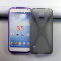 Силиконовый чехол X для Samsung Galaxy S5 Черный