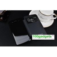 Встраиваемый чехол смарт флип с окном вызова серия Classics для Samsung Galaxy Grand 2 Duos Черный