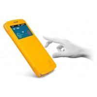 Чехол смарт флип с окном вызова серия Colors для Samsung Galaxy Grand 2 Duos Желтый