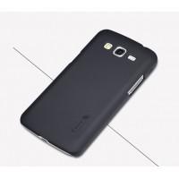 Пластиковый матовый нескользящий премиум чехол для Samsung Galaxy Grand 2 Черный