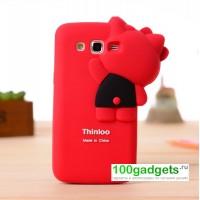 Силиконовый дизайнерский фигурный чехол для Samsung Galaxy Grand 2 Duos Красный