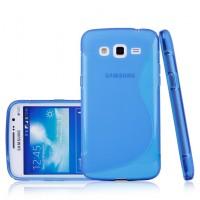 Силиконовый чехол S для Samsung Galaxy Grand 2 Duos Голубой