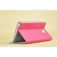 Чехол флип подставка грязеустойчивый для Samsung Galaxy Note 3 Розовый