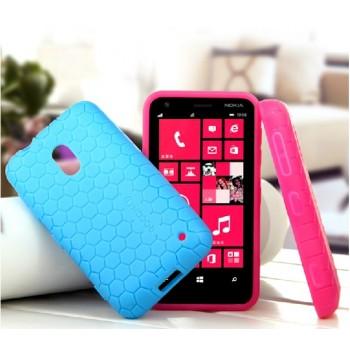 Силиконовый чехол для Nokia Lumia 620 серия Tyson рисунок соты