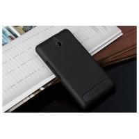 Пластиковый матовый непрозрачный чехол для Sony Xperia E1 Черный