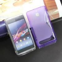 Силиконовый чехол S для Sony Xperia E1 Фиолетовый