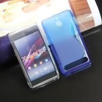 Силиконовый чехол S для Sony Xperia E1 Голубой