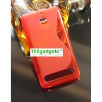 Силиконовый чехол S для Sony Xperia E1 Красный