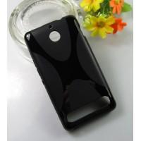 Силиконовый чехол X для Sony Xperia E1 Черный