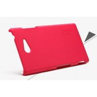 Пластиковый матовый премиум чехол для Sony Xperia M2 Красный