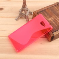 Силиконовый чехол S для Sony Xperia M2 Розовый