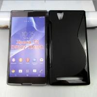 Силиконовый S чехол для Sony Xperia T2 Ultra (Dual) Черный
