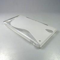 Силиконовый S чехол для Sony Xperia T2 Ultra (Dual) Белый