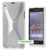 Силиконовый чехол X для Sony Xperia T2 Ultra Белый