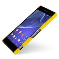 Кожаный чехол накладка серия Back Cover (нат. кожа) для Sony Xperia Z2 желтая