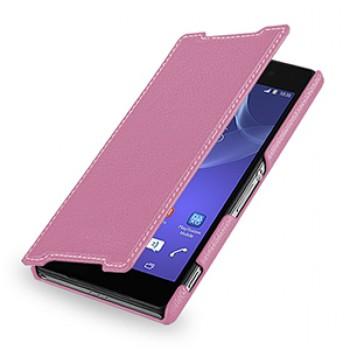 Кожаный чехол горизонтальная книжка (нат. кожа) для Sony Xperia Z2