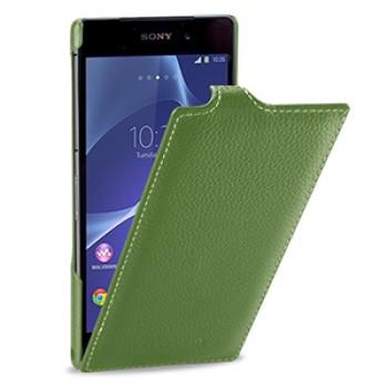 Кожаный чехол вертикальная книжка (нат. кожа) для Sony Xperia Z2