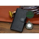 Кожаный чехол портмоне (нат. кожа крокодила) для Sony Xperia Z2
