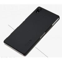 Пластиковый матовый чехол премиум для Sony Xperia Z2 Черный