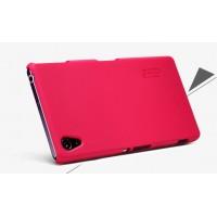 Пластиковый матовый чехол премиум для Sony Xperia Z2 Красный
