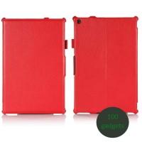 Кожаный чехол подставка для Sony Xperia Z2 Tablet Красный