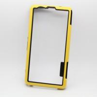 Силиконовый усиленный бампер для Sony Xperia Z1 Compact Желтый
